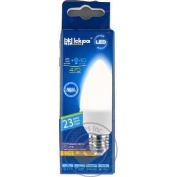 Лампа LED Lamp Іскра C37 220В 5Вт 3000K E27