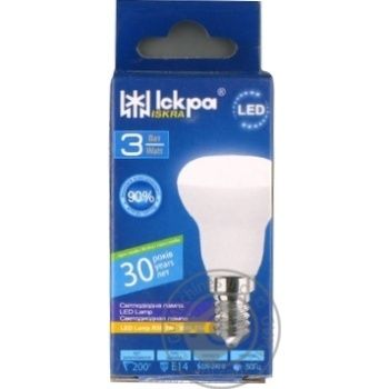 Лампа LED Lamp Іскра R39 220В 3Вт 3000K E14 - купить, цены на Novus - фото 1