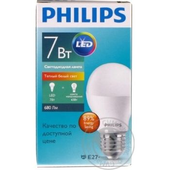 Лампа Philips ESS LEDBulb 7W E27 3000K 230V A60 RCA