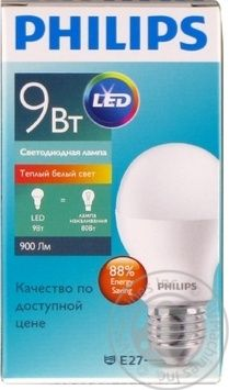 Лампа Philips ESS LEDBulb 9W E27 3000K 230V A60 RCA
