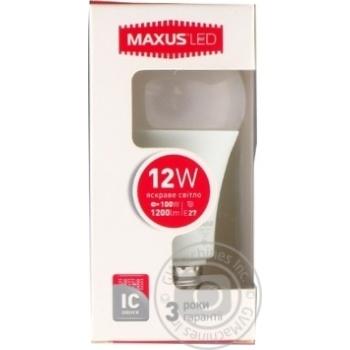 Лампа світлодіодна Maxus A65 12W 4100K 220V E27 - купить, цены на Novus - фото 1