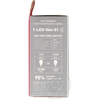 Лампа світлодіодна Maxus A65 12W 4100K 220V E27 - купить, цены на Novus - фото 2