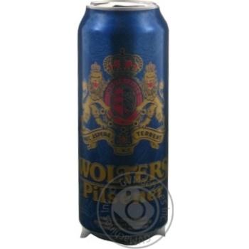 Пиво Wolters Pilsener светлое ж/б 4,9% 0,5л