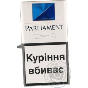 Parliament Aqua Super Slims cigarettes
