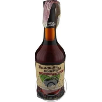 Напиток сброженный Домашняя Коллекция Ежевика крепкий сладкий розовый 12% 0,5л - купить, цены на Novus - фото 1