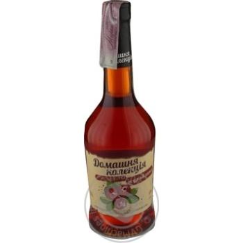 Напиток сброженный Домашня Колекция Клюква крепкий сладкий розовый 12% 0,5л - купить, цены на Novus - фото 1