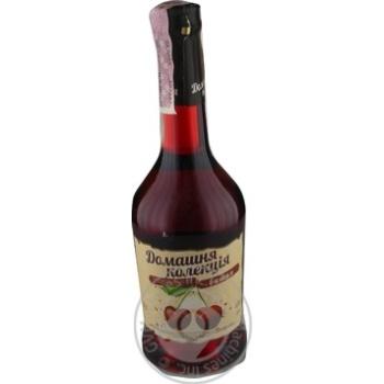 Напій зброджений Домашня Колекція Вишня міцний солодкий рожевий 12% 0,5л - купити, ціни на Novus - фото 1