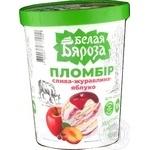 Мороженое Белая Бяроза пломбир слива-клюква-яблоко 555г - купить, цены на МегаМаркет - фото 1