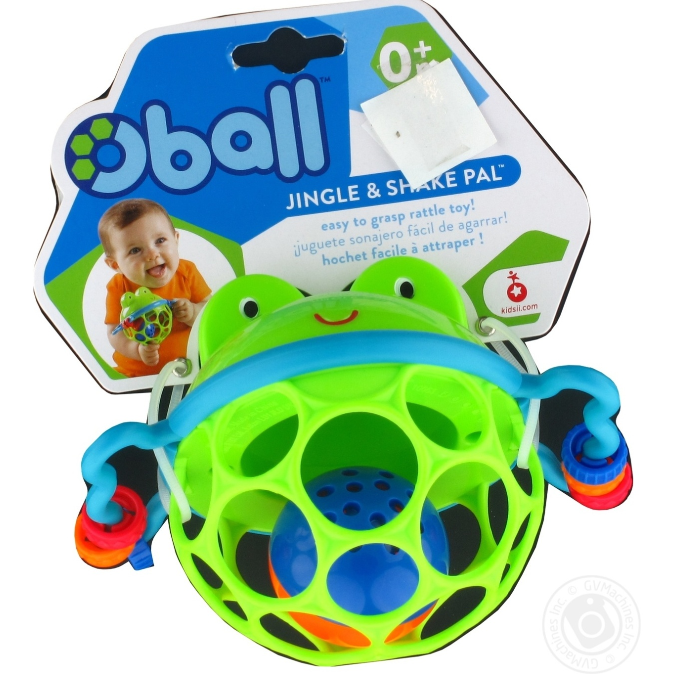 Игрушка Oball погремушка лягушонок