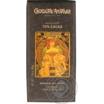 Шоколад Amatller 70% 85г - купить, цены на Novus - фото 1