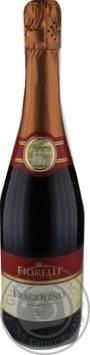 Вино игристое Fiorelli Fragolino Rosso красное клубника 0,75л