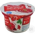 Десерт Точно молочно! с джем красн смор с малин 9% 180г
