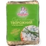 Сыр плавленый Добряна творожный с зеленью 40% 90г