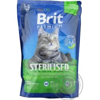 Корм Brit Premium для стерилизованных котов 1,5кг - купить, цены на Ашан - фото 1