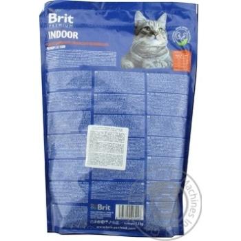 Сухий корм для котів, які живуть в приміщенні Brit Premium Cat Indoor курка 1,5кг - купити, ціни на Ашан - фото 2