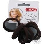 Зажим для волос Titania средний коричневый 7872 6шт