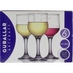 Набор бокалов Gurallar Artcraft Nevakar для белого вина 200мл 6шт