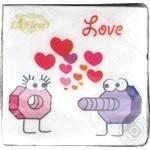 Серветки La Fleur Неочікуване кохання 33*33 20шт 2шар