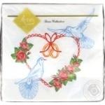 Серветки Luxy Любов надає крила столові паперові 33х33см 3 шари 20шт