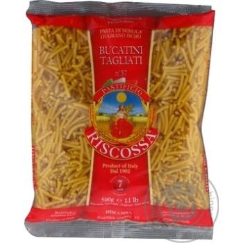 Макаронные изделия Riscossa №57 Bucatini Tagliani 500г - купить, цены на МегаМаркет - фото 1