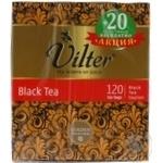 Чай Vilter чорний 100+20пак*2г х12