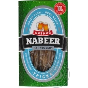Snack atlantic cod Nabeer fish salted dried 100g