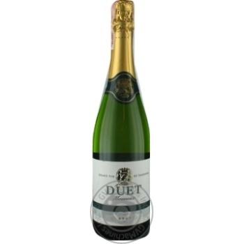 Вино Duet Mousseux Brut белое брют 10,5% 0,75л