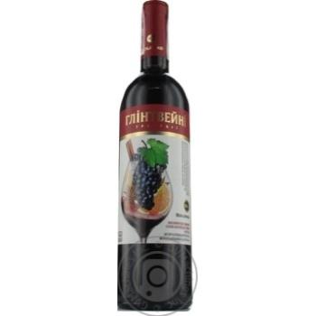 Wine Bolgrad red semisweet 9-13% 750ml glass bottle Ukraine
