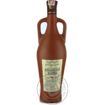 Вино красное Грузинское Застолье Алазанская Долина натуральное природно-полусладкое 11.5% 750мл - купить, цены на Novus - фото 1