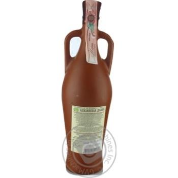 Вино красное Грузинское Застолье Алазанская Долина натуральное природно-полусладкое 11.5% 750мл - купить, цены на Novus - фото 4