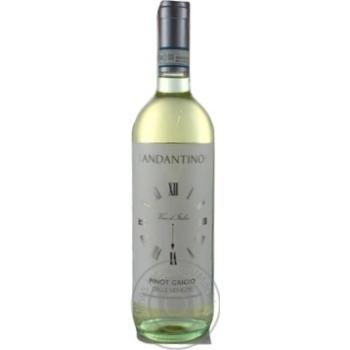 Вино Andantino Pinot Grigio delle Venezie белое сухое 12% 0,75л