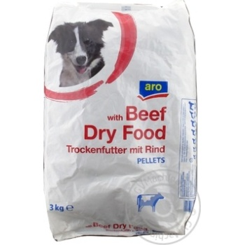 Aro dry feed for dogs with вeef 3kg