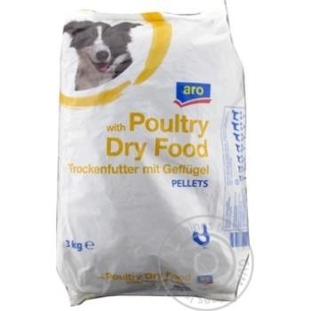 Сухой корм Aro для собак со вкусом птицы 3кг
