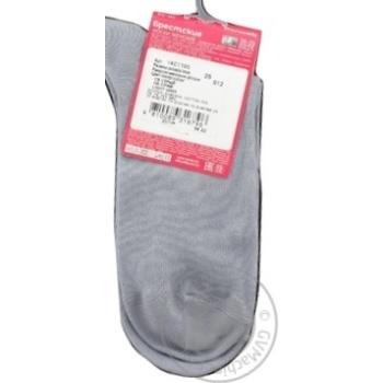 Шкарпетки жіночі Брестские Classic середньої довжини 1100, розмір 25, 012 світло сірий - купити, ціни на Novus - фото 2