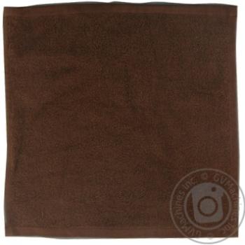 Серветка махрова без бордюра темно-коричневий 100% бавовна 30*30см 400г/м2 16/1 SAFFRAN