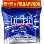 Таблетки багатофункціональні Квантум для посудомийної машини Finish Quantum 40+ 40 Bogof
