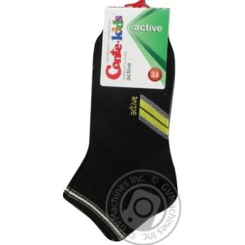 Носки Conte Kids Active детские короткие черные размер 24 - купить, цены на Novus - фото 1