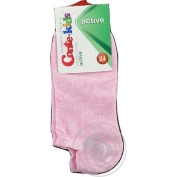 Носки Conte Kids Active детские ультракороткие светло-розовые размер 24 - купить, цены на УльтраМаркет - фото 3