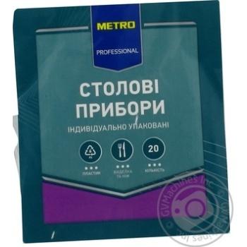 Столовые приборы Metro Professional вилка, нож 20шт - купить, цены на Метро - фото 3
