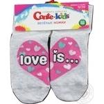 Шкарпетки дитячі Веселі ніжки Tip-Top Conte-kids 17С-10СП, розмір 22, 279 світло-сірий