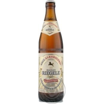 Пиво Riegele Hell Alcoholfrei светлое безалкогольн 0,5л