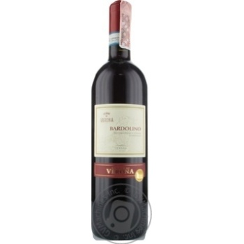 Вино Terre Di Verona Bardolino DOC червоне сухе 12.5% 0,75л - купити, ціни на CітіМаркет - фото 1
