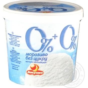 Мороженое Ласунка 0% + 0% без сахара 250г