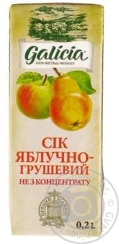 Сок Galicia яблочно-грушевый 0,2л