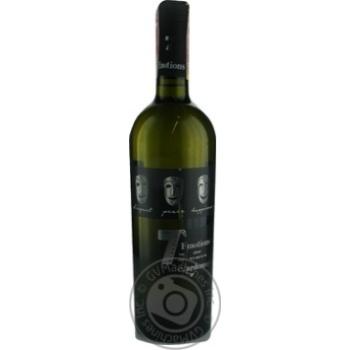 Вино 7 Emotions Chardonnay біле сухе 9-14% 0,75л