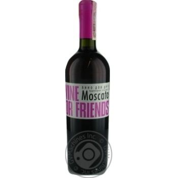 Wine For Friends Moscato Pink Semi Sweet Wine 9-13% 0.75l