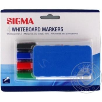 Набор маркеров Sigma Для доски с Резинкой 2мм