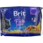 Корм Бріт Преміум 4х100г асорті рибна тарілка для котів
