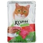 Корм для взрослых котов Повна Чаша с говядиной 100г