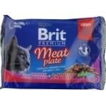 Корм для кошек Brit Premium Meat Plate ассорти 4x100г
